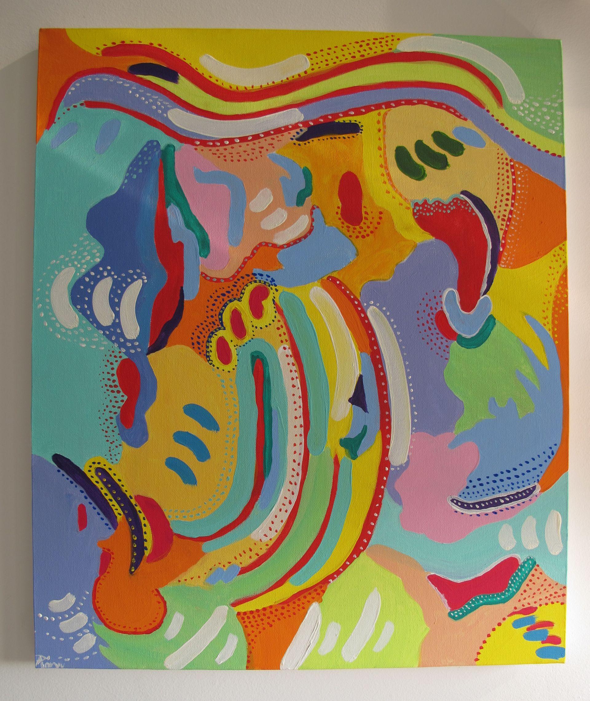 """Din seria """"In cautarea ordinii"""", 2009, tablou de Adela Parvu"""