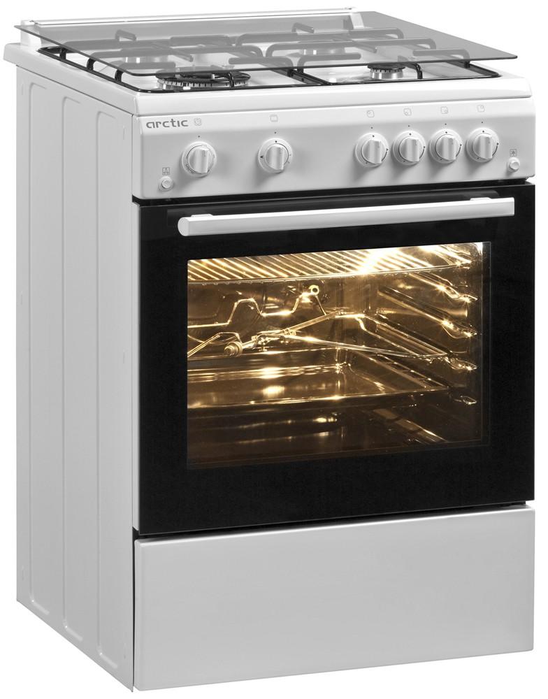 Aragaz Arctic model AG66DTTLW cu arzător dublu wok pentru a găti cât mai sănătos. Pret 1099,90 la Domo