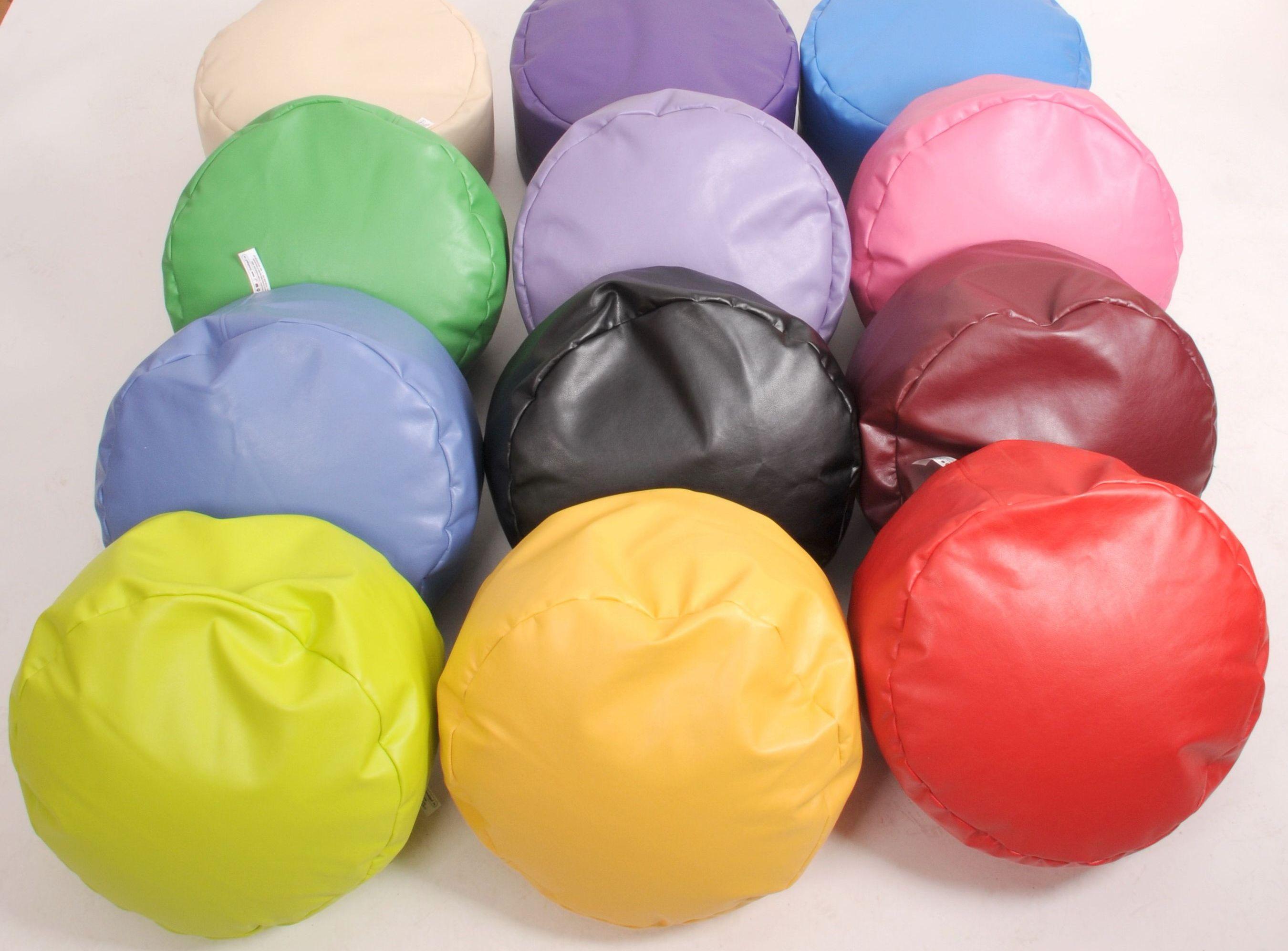 Fotolii beanbag drum stool.  Diametru 55 cm, h 25 cm, pret 64,5 lei (15 euro)