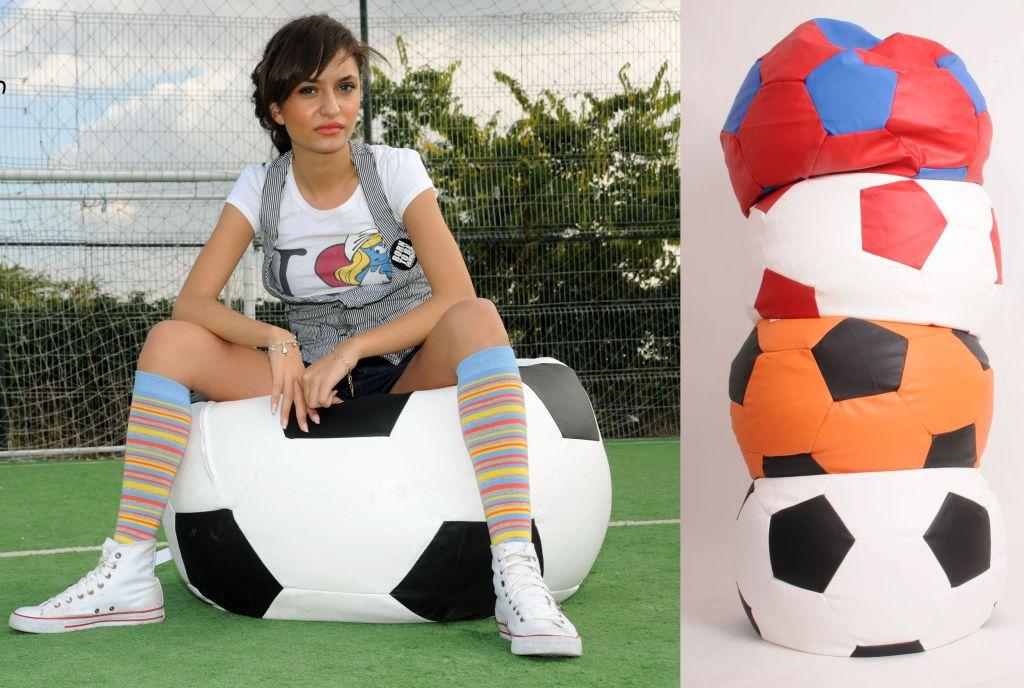 Fotolii beanbag sport fotbal de la fotoliipuf.ro. Diametru 90 cm, pret 175 cm.