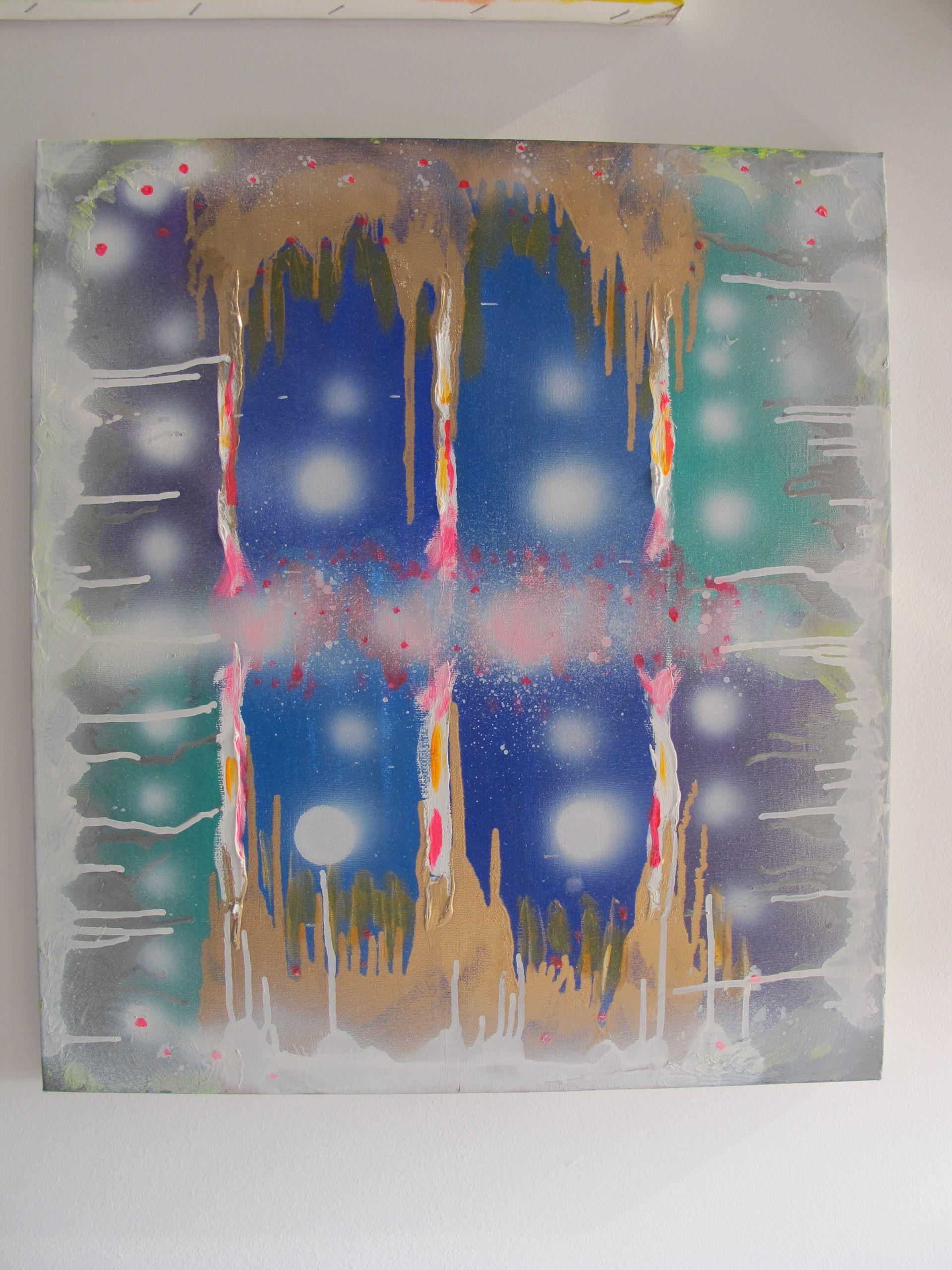 """Iluzie hibernala"" tablou de Adela Parvu, 2009"