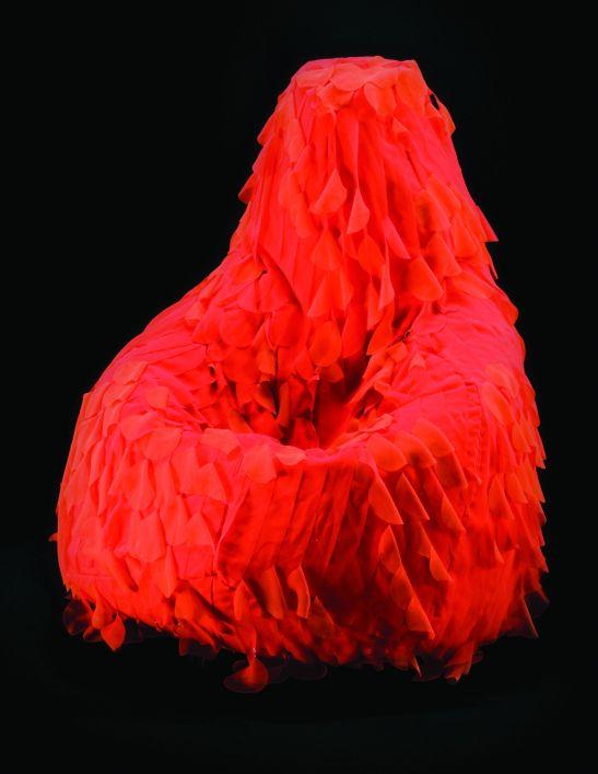 Luna rossa model Sacco Armchair de la Zanotta