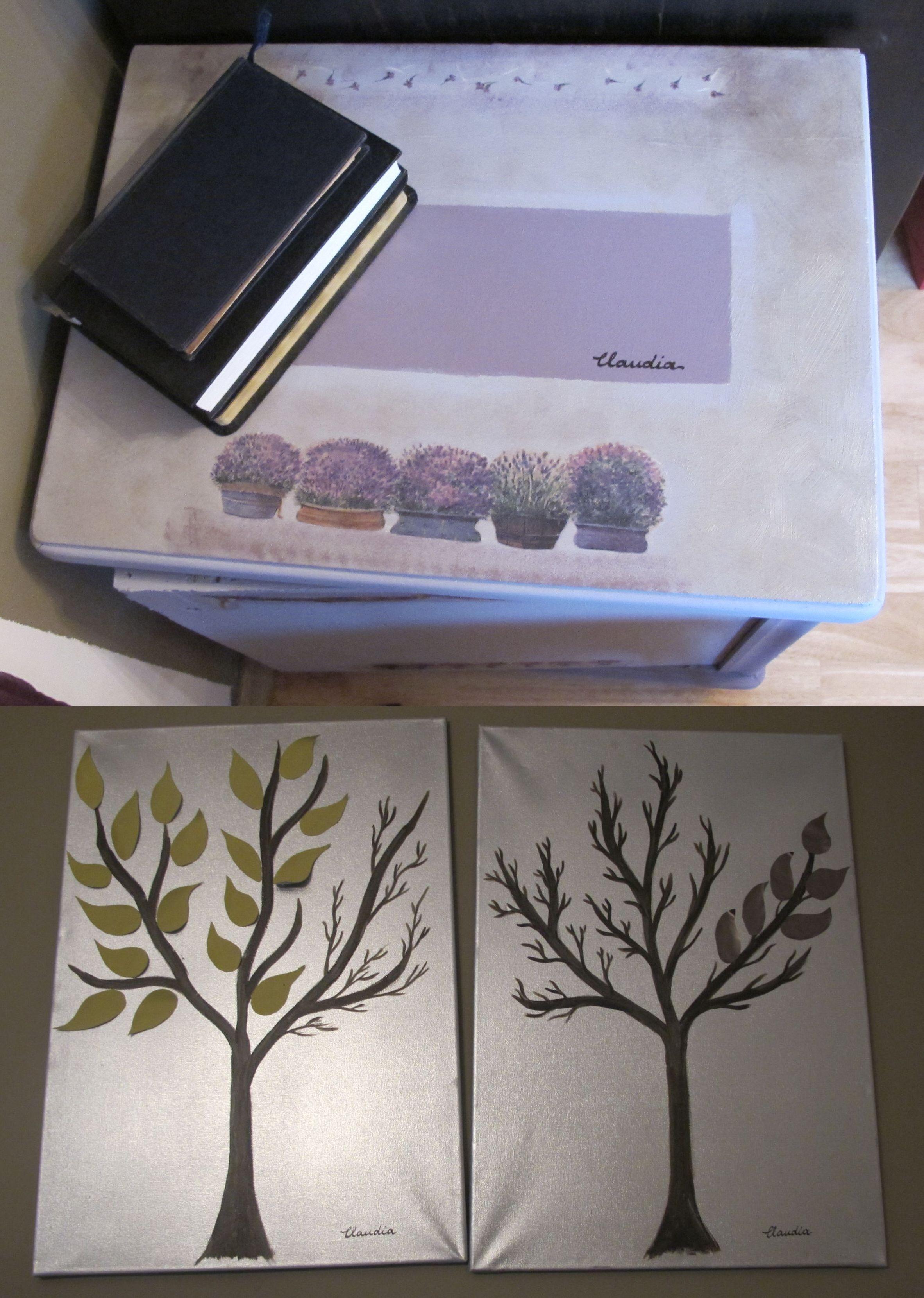 Dulapior personalizat si tablouri decorative create de Claudia Trandafirescu