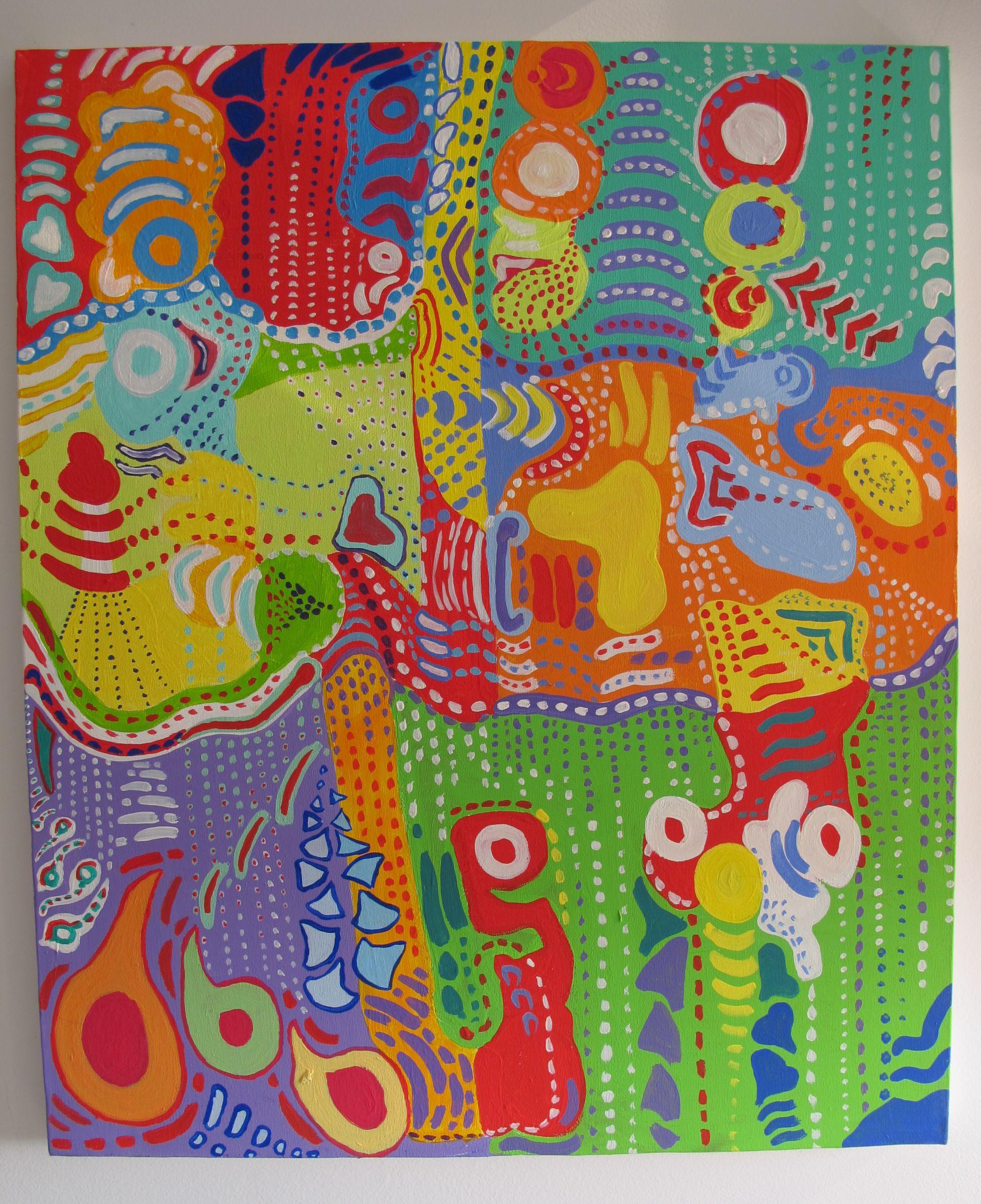 Picaturi de energie, 2009, tablou Adela Parvu