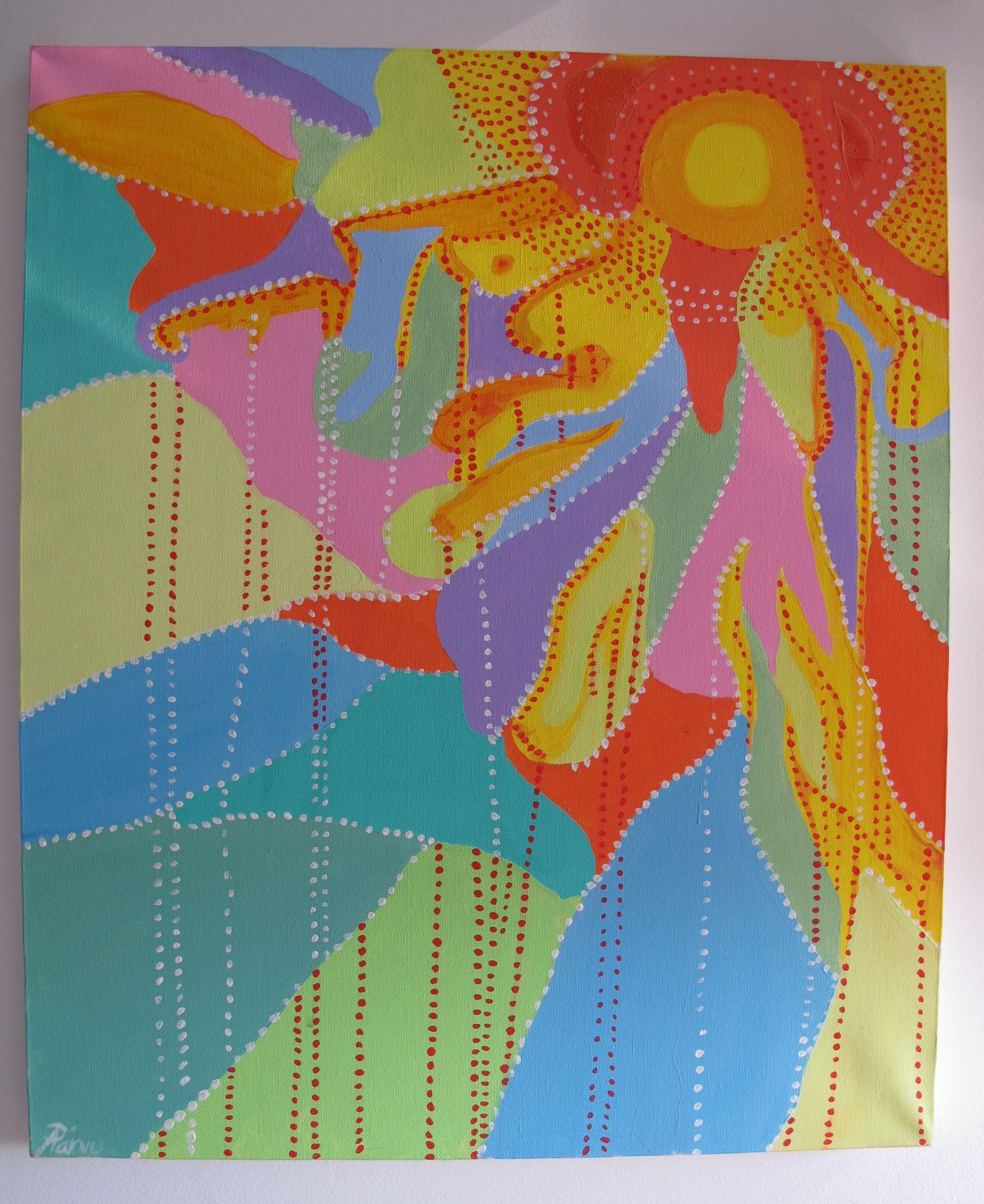 Picaturi de energie, 2009, tablou de Adela Parvu