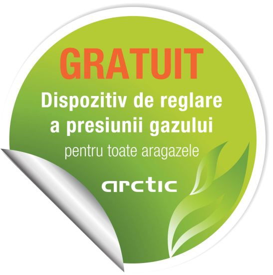 Eticheta verde - sticker regulator presiune gaz
