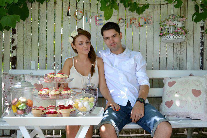 Alina si Ghica Popa la petrecerea lor de nunta
