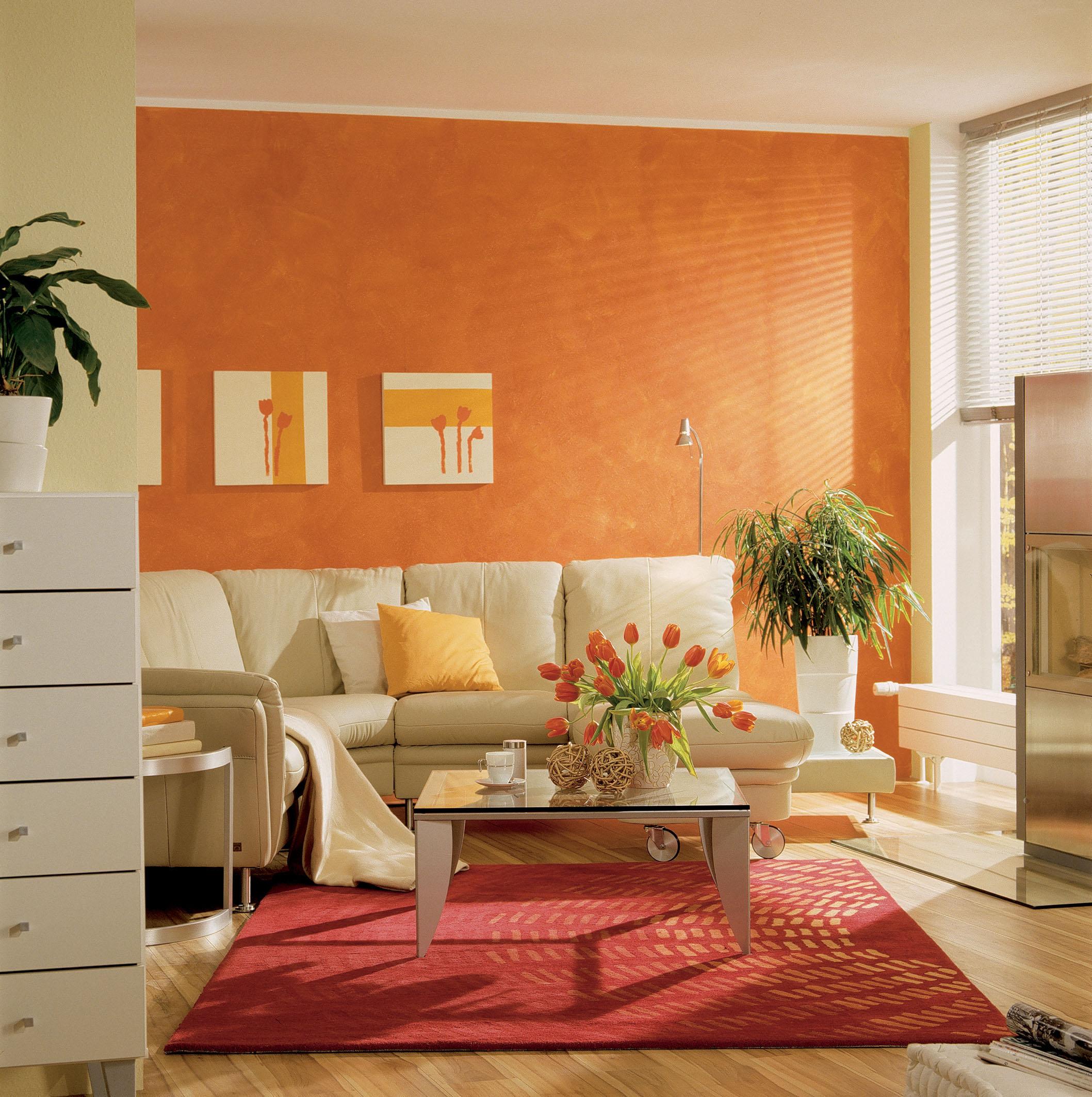 Ambient living modern cu tapet lavabil de la Erfurt