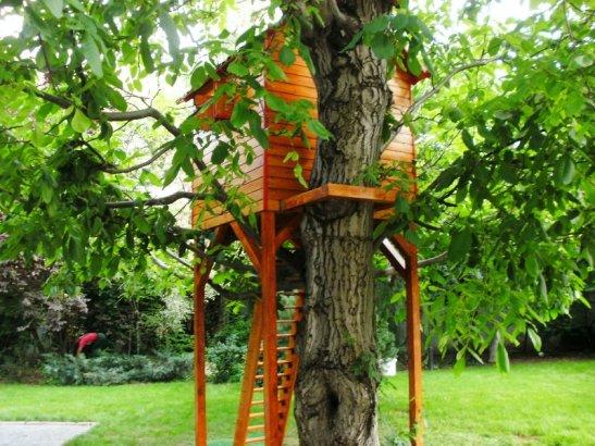 Casuta in copac model Rhea realizat de cei de la Casute Kalman