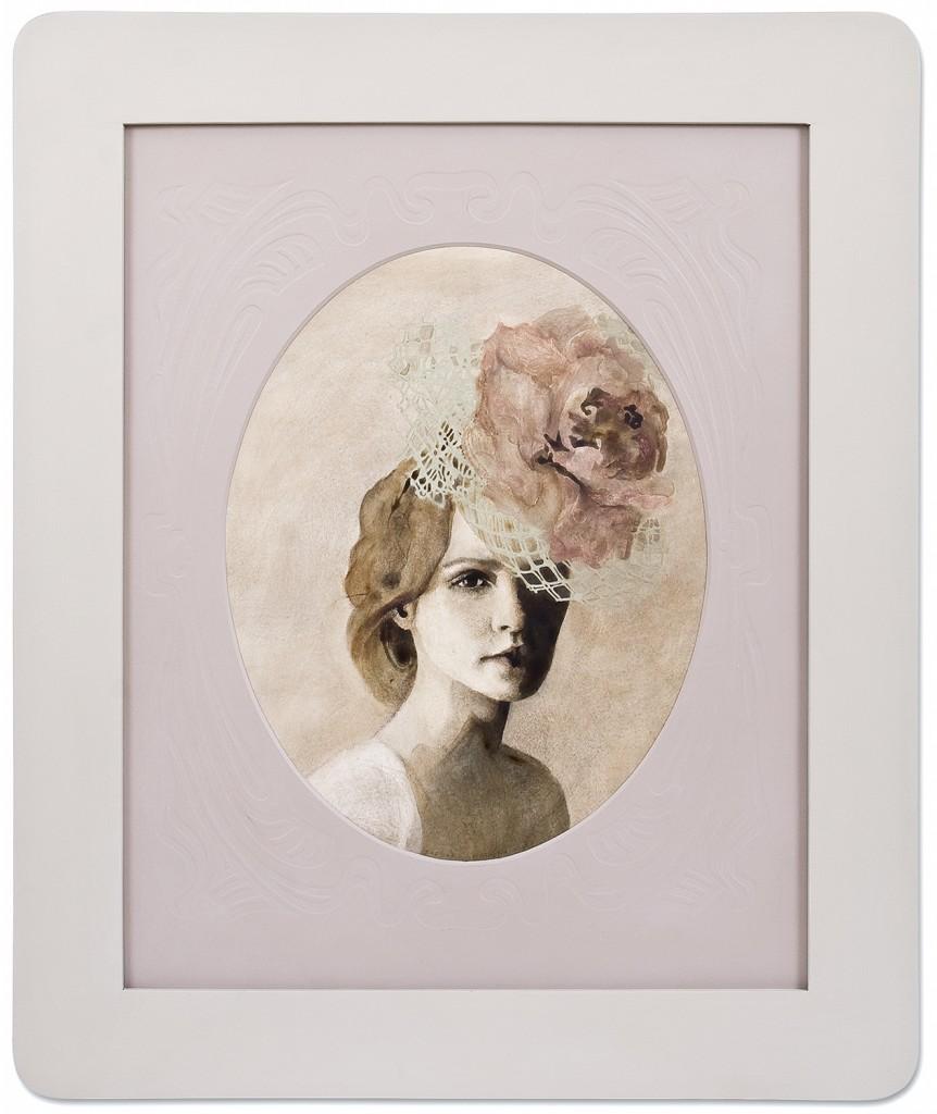 Celalat cercel de perla, pictura 70 x 83 cm, artist Barbara Hangan