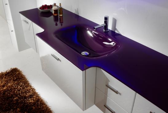 Compozitie lavoar de sticla si mobilier baie, dimensiuni 2000 mm, de la Top Stil Virginia