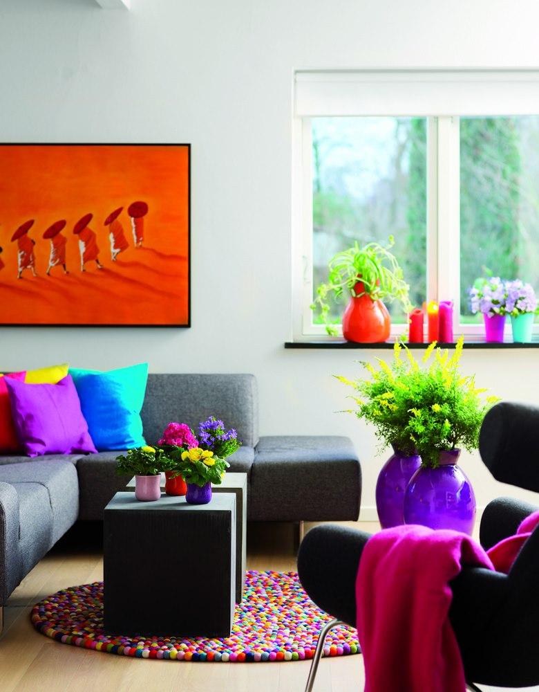Culorile inspirate din arta contemporana sunt sursa de inspiratie pentru aranjamentele cu florile ornamentale