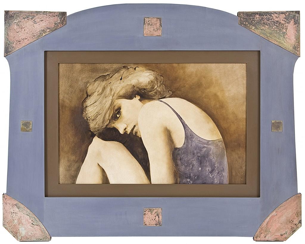Deja blue, pictura 100 x 78 cm, artist Barbara Hangan