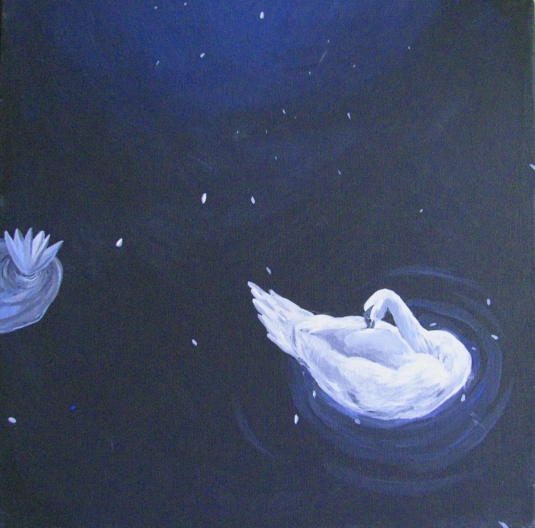 """Artist Delia Orman """"Ce se intampla pe cealalta parte a lumii"""", 40 x 40 cm,  420 lei reducere la 378 lei la CELEBRATION"""
