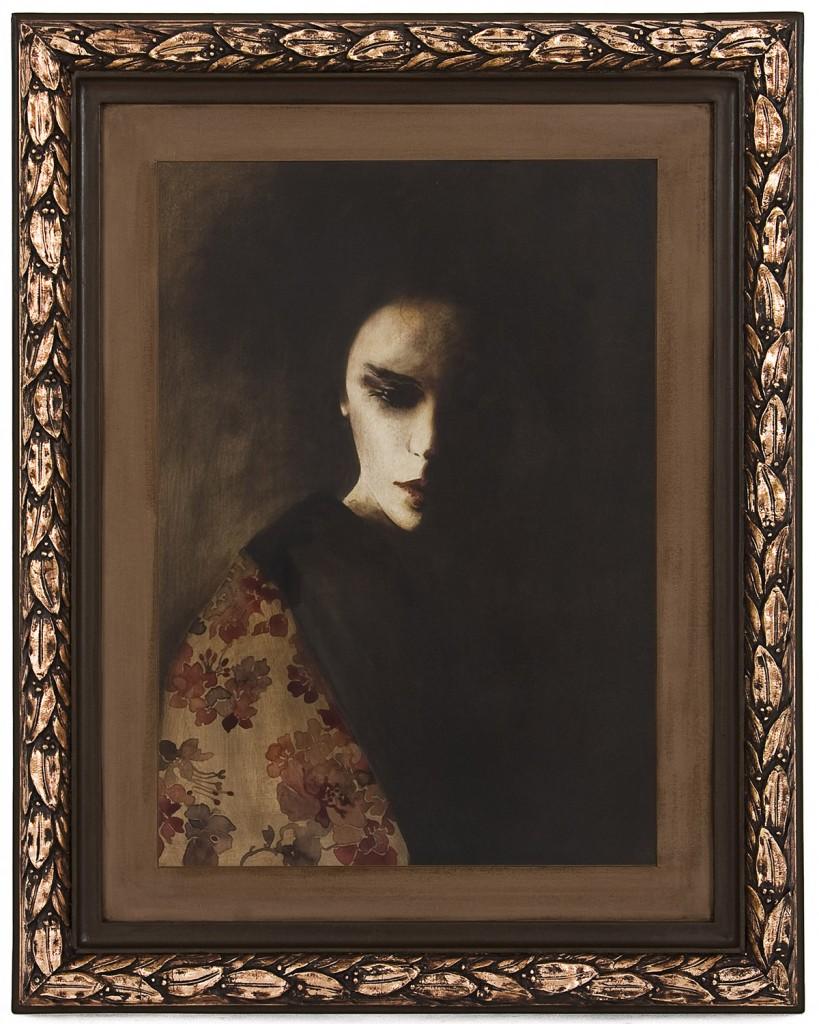 Despre dragoste si umbra, pictura 58 x 73 cm, artist Barbara Hangan