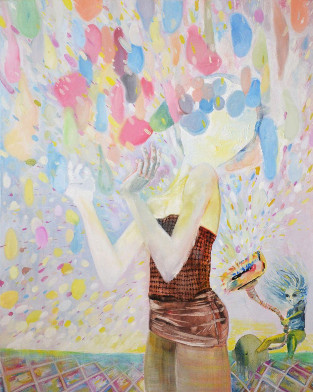 "Artist Dominic Virtosu ""Balloons"", 80 x 100 cm, tehnica ulei pe panza 2860 lei redus la 2584 lei in cadrul CELEBRATION"