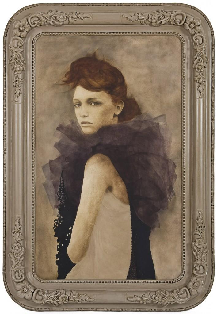 Guerlain a botezat parfumul voila pourquoi j'aime Rosine, pictura 70 x 100 cm, artist Barbara Hangan