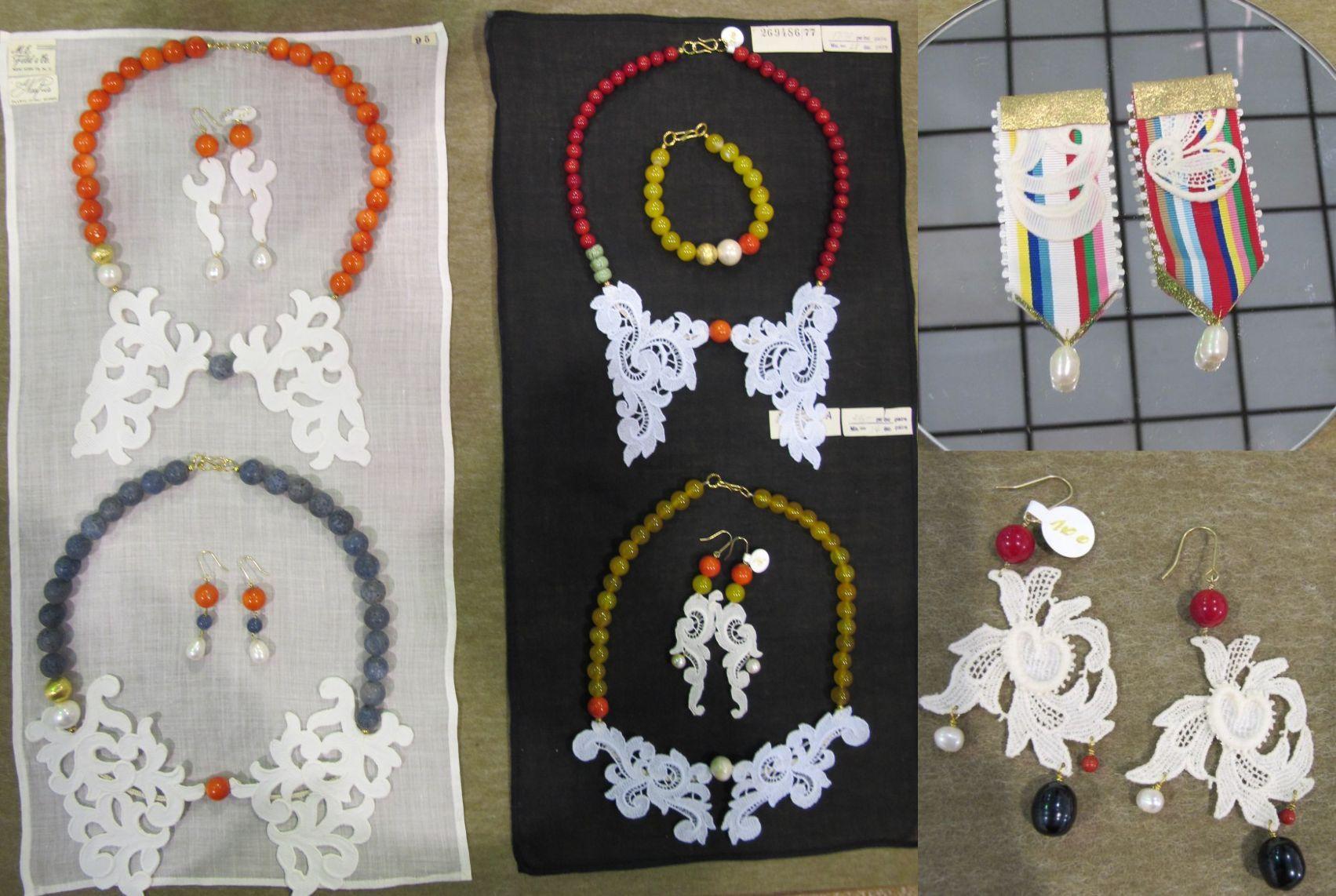 Coliere, cercei si brose, toate realizate manual, cu preturi incepand de la 100 lei le gasesti pe site-ul artistei Nadire Omer, adica ladymagpie.com