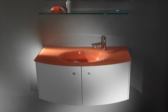Lavoar sticla si mobilier baie farbicate de Top Stil Virginia