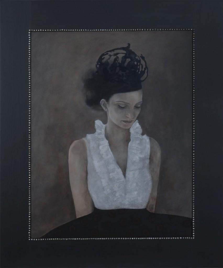 Noaptea de dinaintea noptii, pictura 82 x 98 cm, artist Barbara Hangan