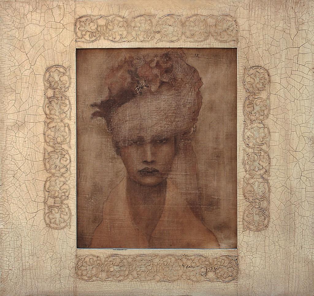 Nunta in cer, pictura 65 x 61 cm, artist Barbara Hangan