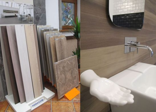 Placi ceramice care imita lemnul de la Dream Home Design