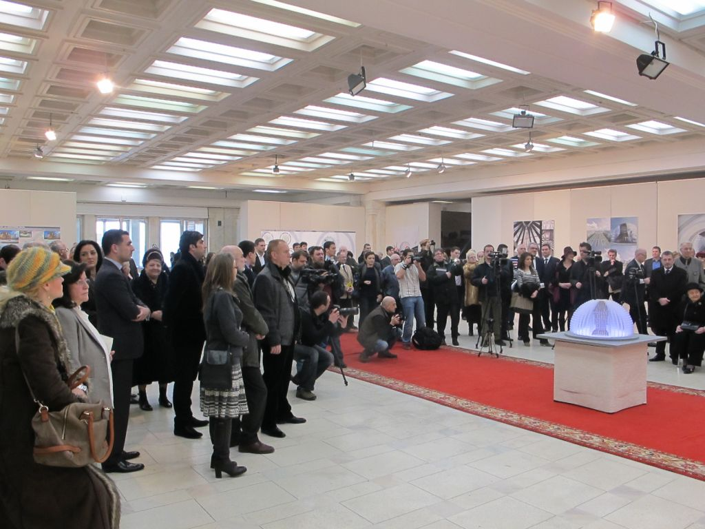 Vernisajul proiectului Monumentul Marii Uniri artist Ioan Bolborea