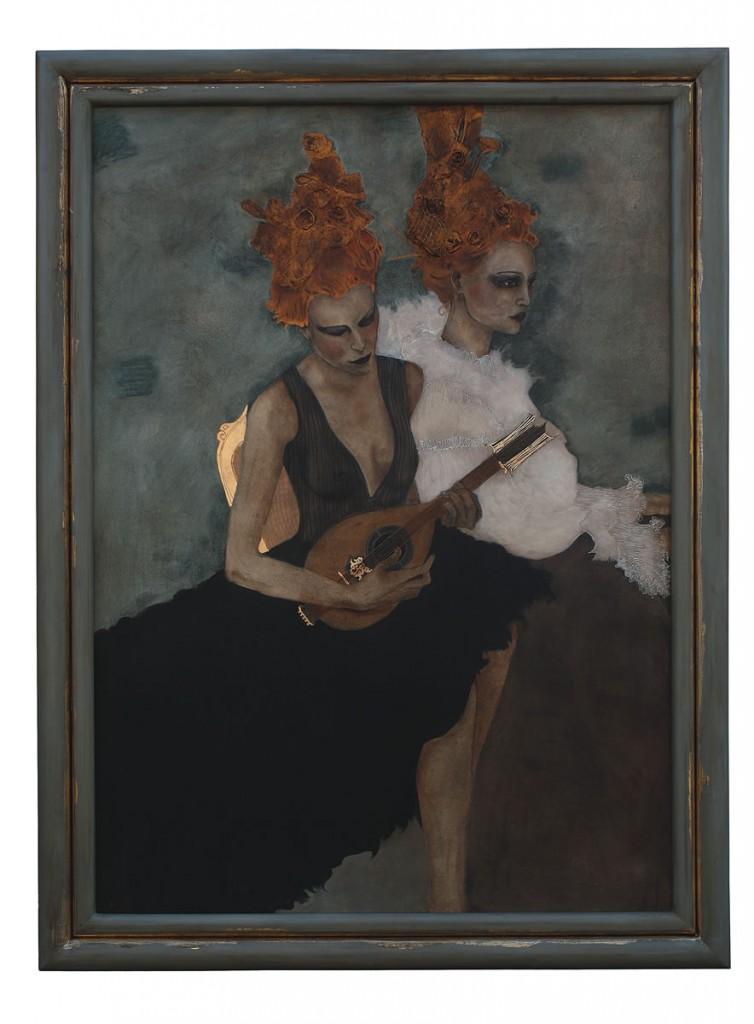 Visul unei nopti de iarna, pictura 117 x 157 cm, artist Barbara Hangan