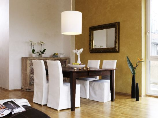 Ambinet cu masa de sufragerie in nuanta wenge Foto Alpina