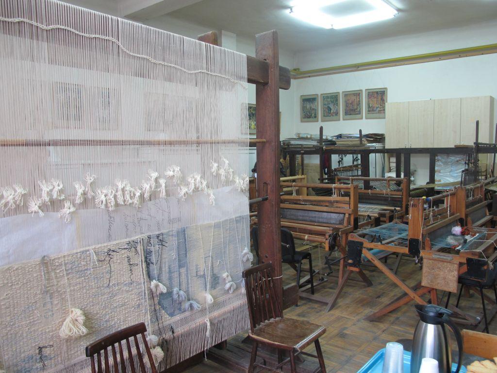 Atelierul de tesut de la Arte Textile, UNArte, februarie 2013