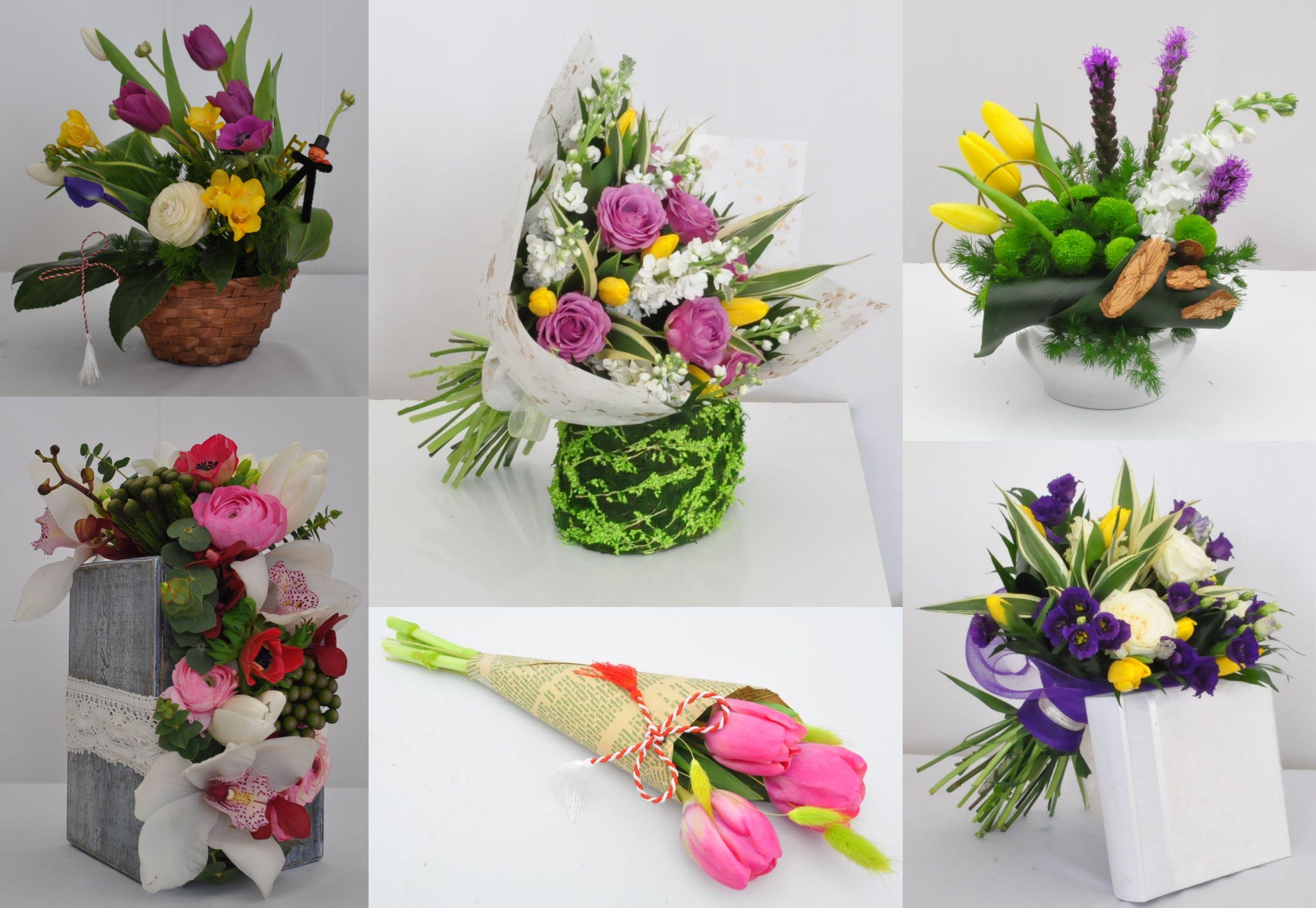 Buchete si aranjamente florale propuse de Fleur blanche