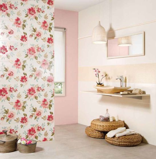 Colectia de placi ceramice Provence Aix cu motive florale de la Peronda Ceramicas la noi prin SSAB Impex