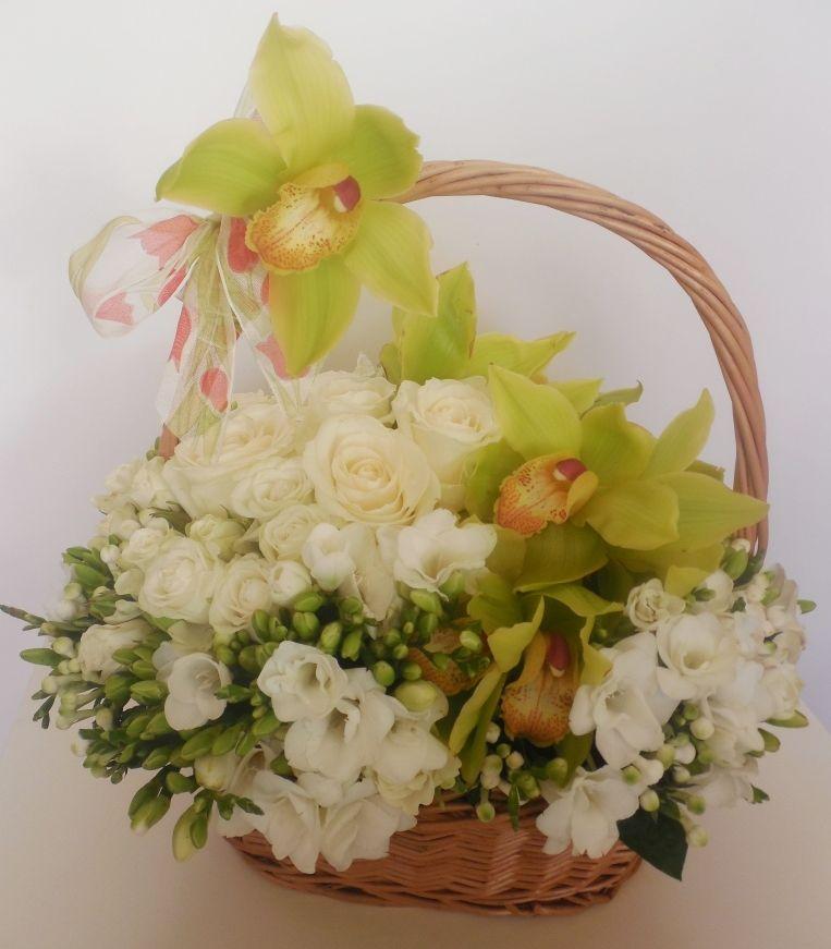 Cos cu flori propus de Flori frumoase