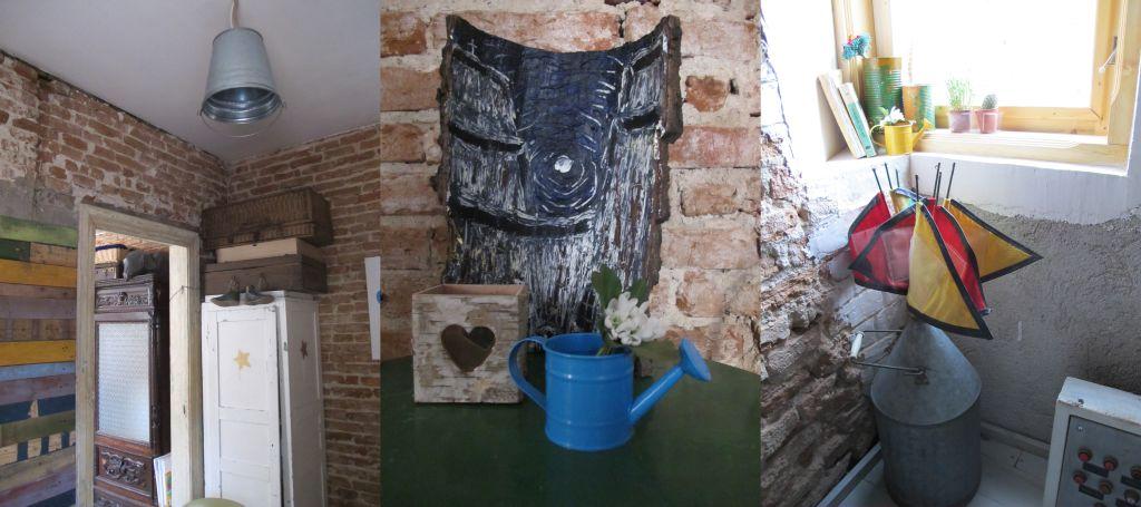 Detalii din a doua camera de la parterul cafenelei Acuarela