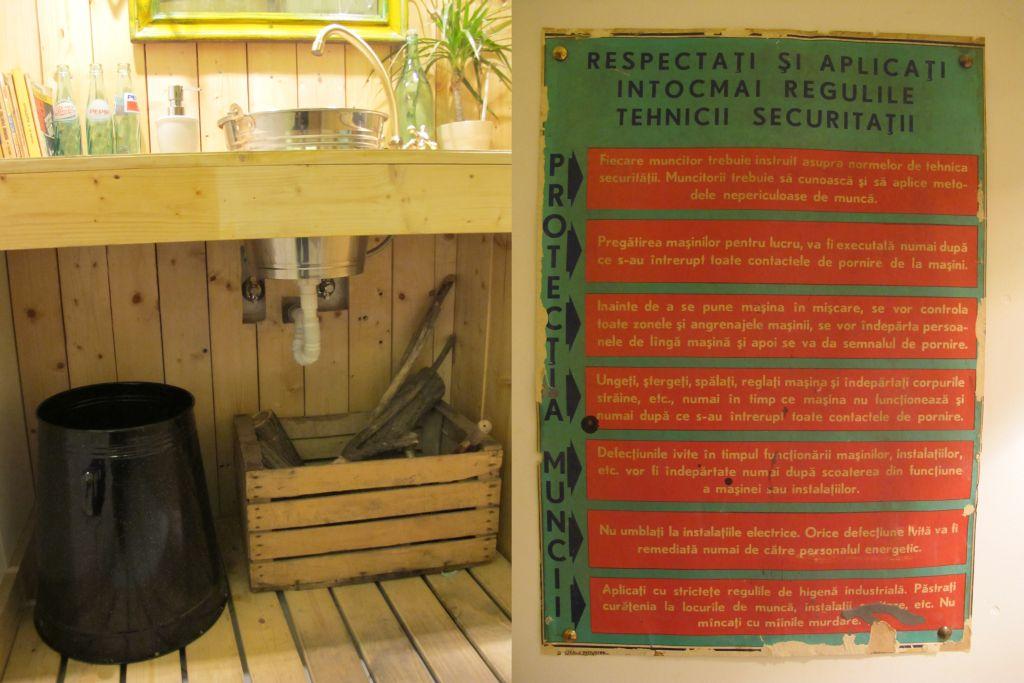 Detalii din baia cafenelei Acuarela