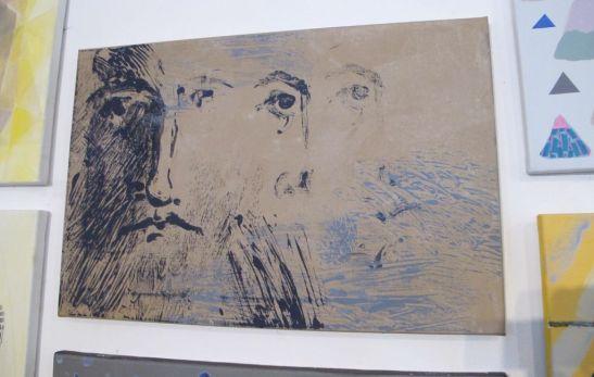 Eco de Tudor Matache lucrare expusa la Galeria UNArte Perceptia cromatica in teorie si practica