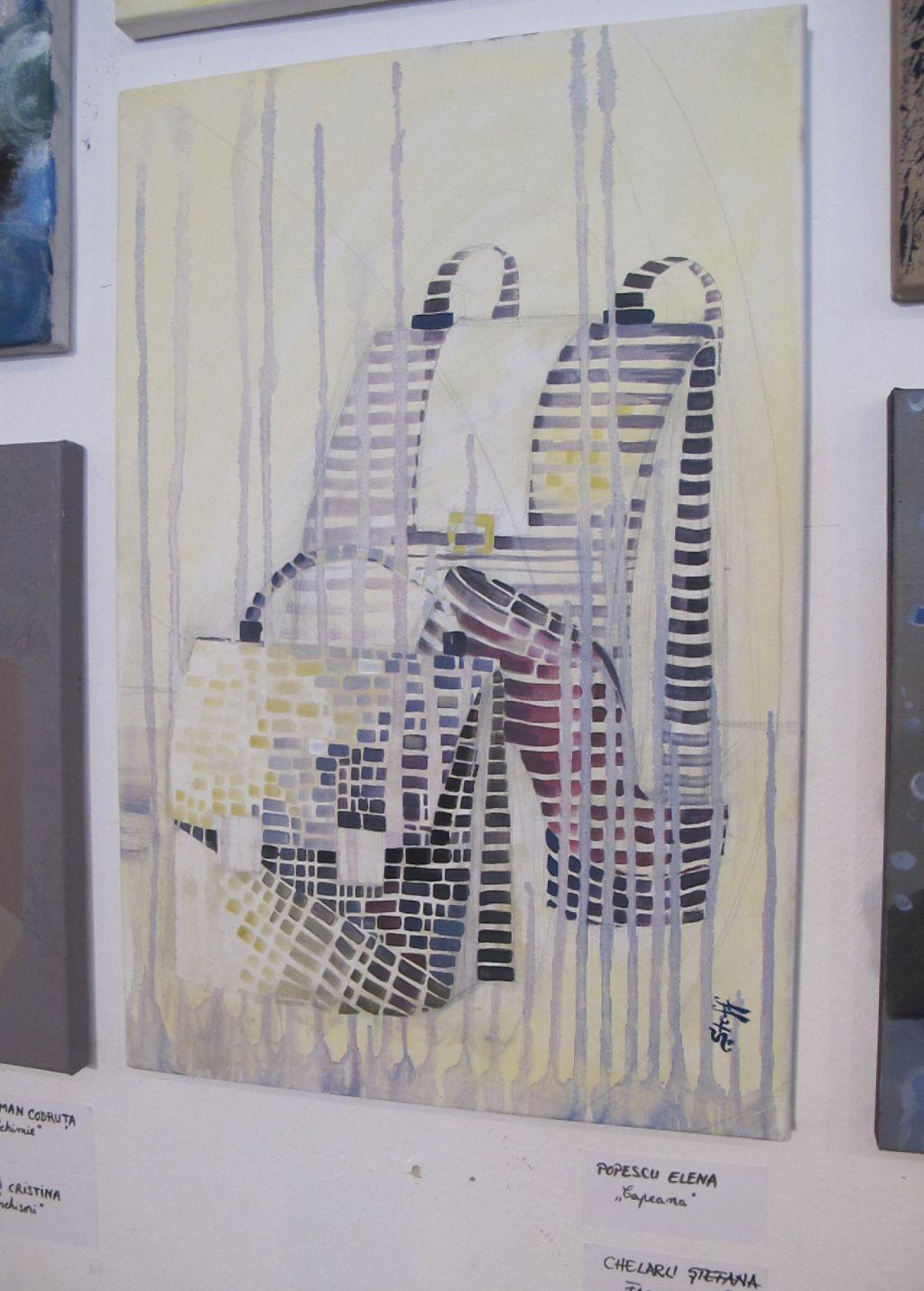 Fragmente de Stefana Chelaru expusa la Galeria UNArte expo Perceptia cromatica