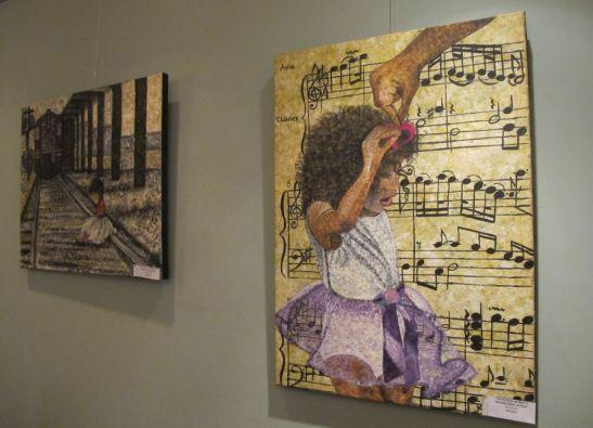 In prim plan: Dor de Papa... pe Bach/  Missing Daddy... on Bach, 70 x 50 cm, 150 euro, Artist Orly Yanay