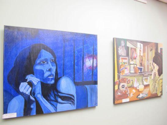 In prim plan: Noaptea cel mai bun sfetnic / Night the best adviser,  60 x 70 cm, 80 euro, Artist Orly Yanay