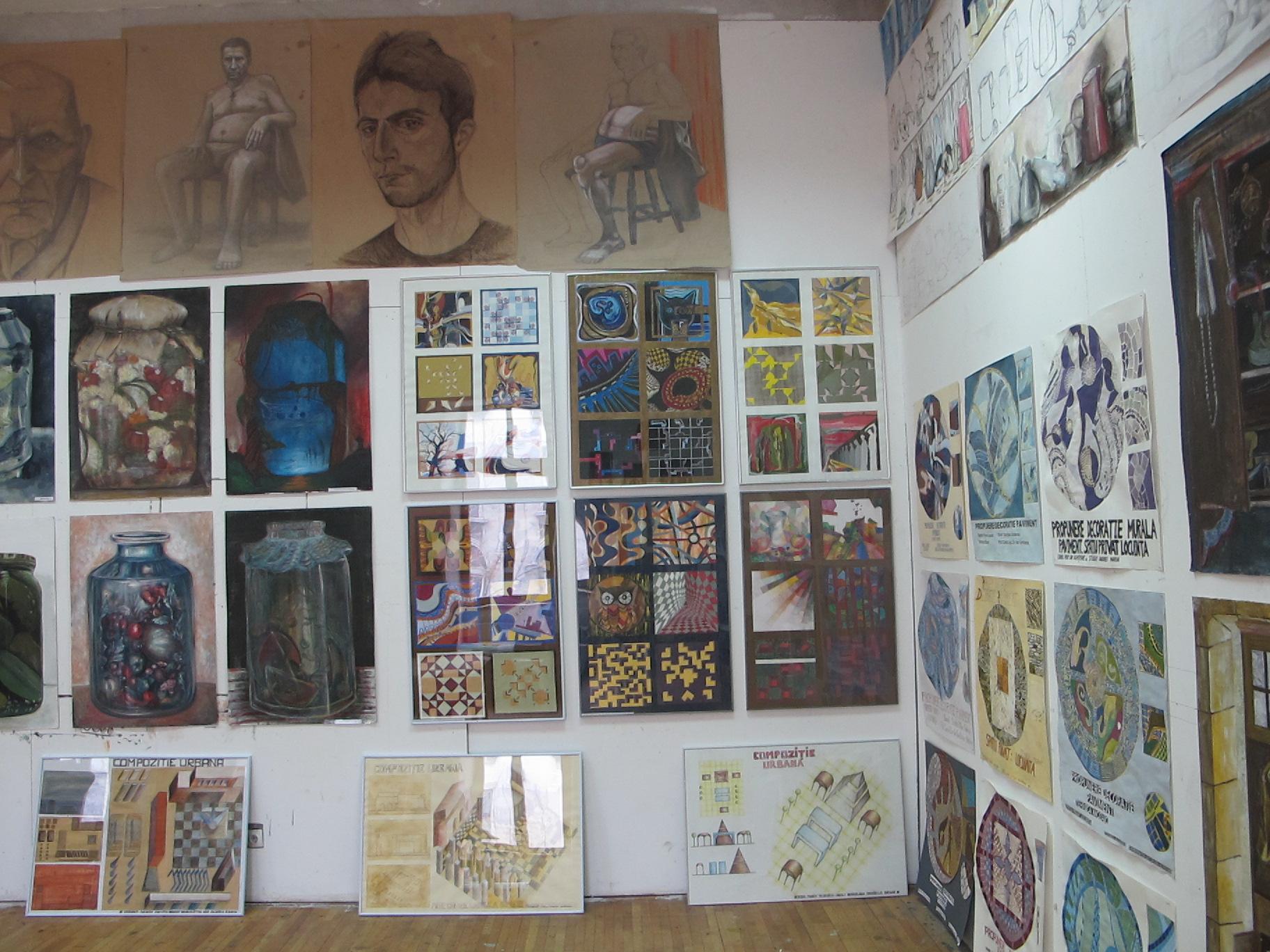 Lucrarile studentilor de la Arta murala, UNArte, februarie 2013