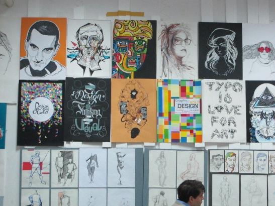 Lucrarile studentilor de la grafica UNArte, februarie 2013