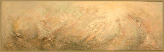 Making love with the wind, 100 x 30 cm, tehnica mixta pe panza, artist Elena Vijoli