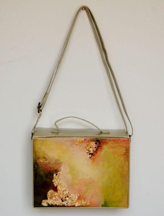 Mattina di primavera, pictura de Elena Vijoli incastrata in geanta