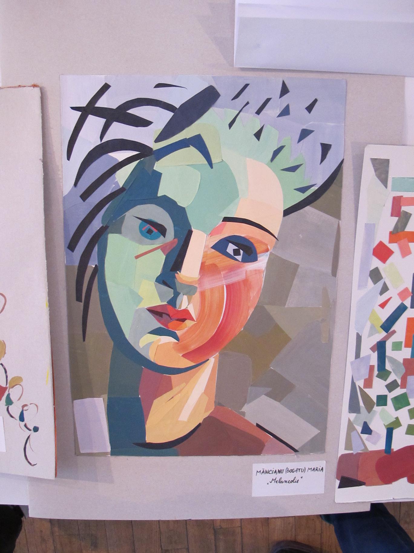 Melancolie de Macianu Maria expusa la Perceptia cromatica in teorie si practica Galeria UNArte