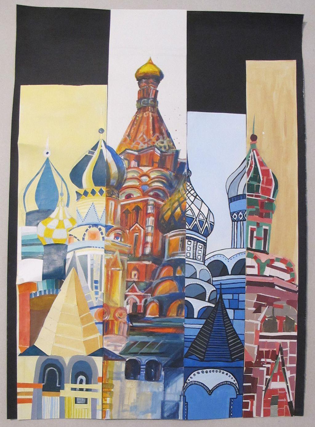 Moscova constraste cromatice lucrare de grup Stefana Chelaru, Bianca Budau, Codruta Hachman, Aida Ursu