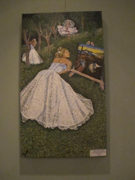 Obsesiile femeilor - Rochia de mireasa si trecerea timpului/ Womens obsessions - Bride Dress and Time Passing, 70 x 40 cm, 120 de euro, Artist Orly Yanay