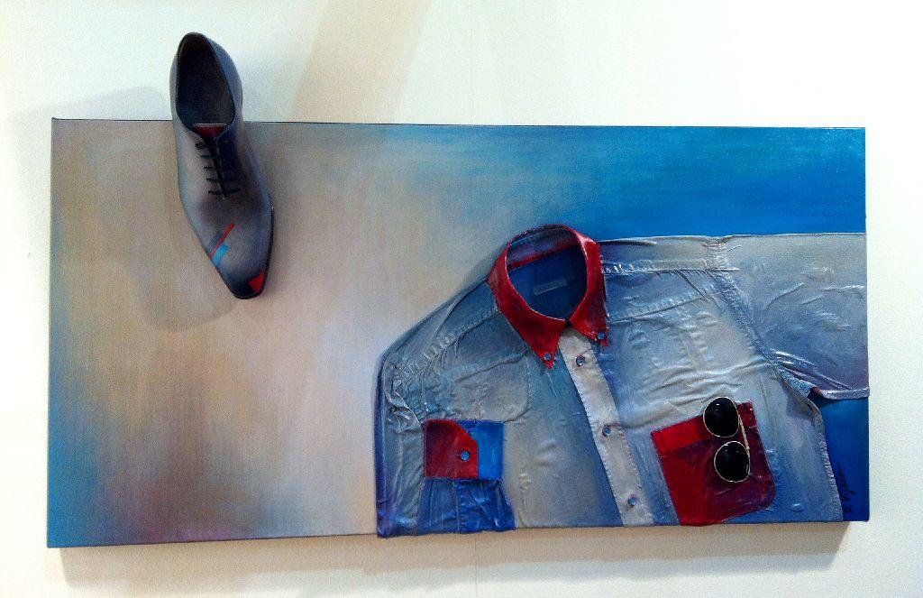 Pantofi pictati, artist Elena Vijoli