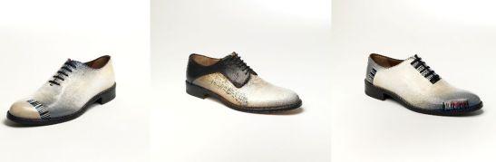 Pantofi pictati, colectia Toma, artist Elena Vijoli