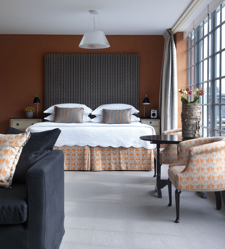Detaliu din Penthouse Suite 502 de la The Soho Hotel, designer Kit Kemp
