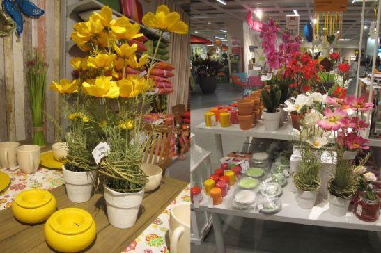 Plante cu flori artificiale cu preturi intre 59,99 si 99,99 lei de la kika